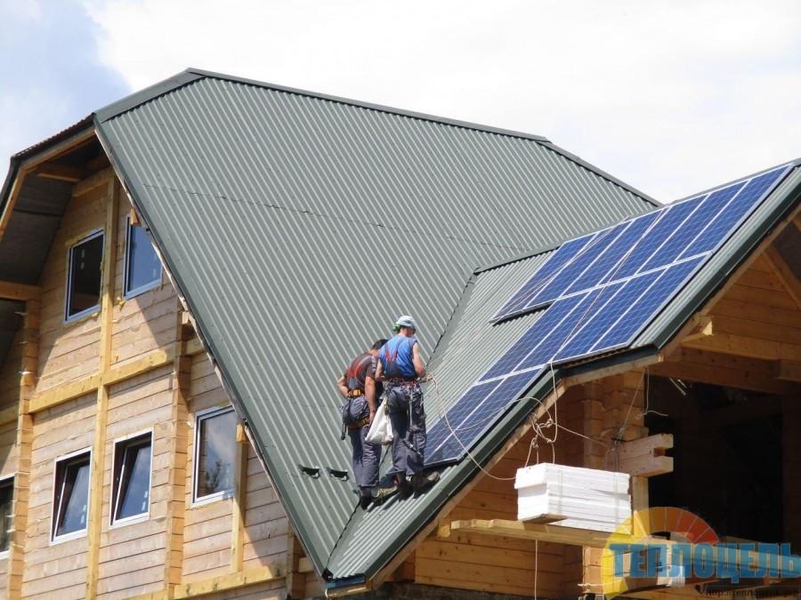 Автономная солнечная электростанция мощностью 1,8 кВт для туристического приюта Явирнык, Закарпатская обл.
