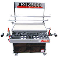Система AXIS 4000 для измерения углов установки колес грузовых автомобилей с камерами и радиопередатчиком