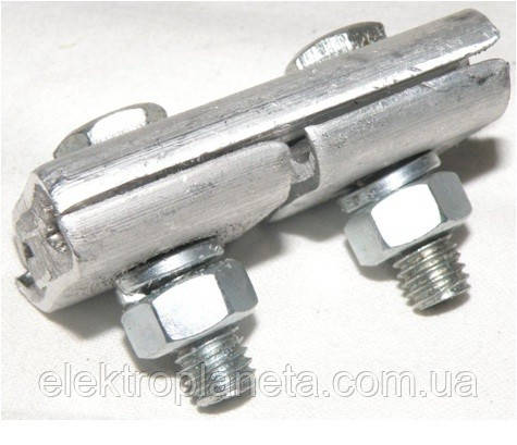 Плашечный зажим алюминиевый ПА 1-1