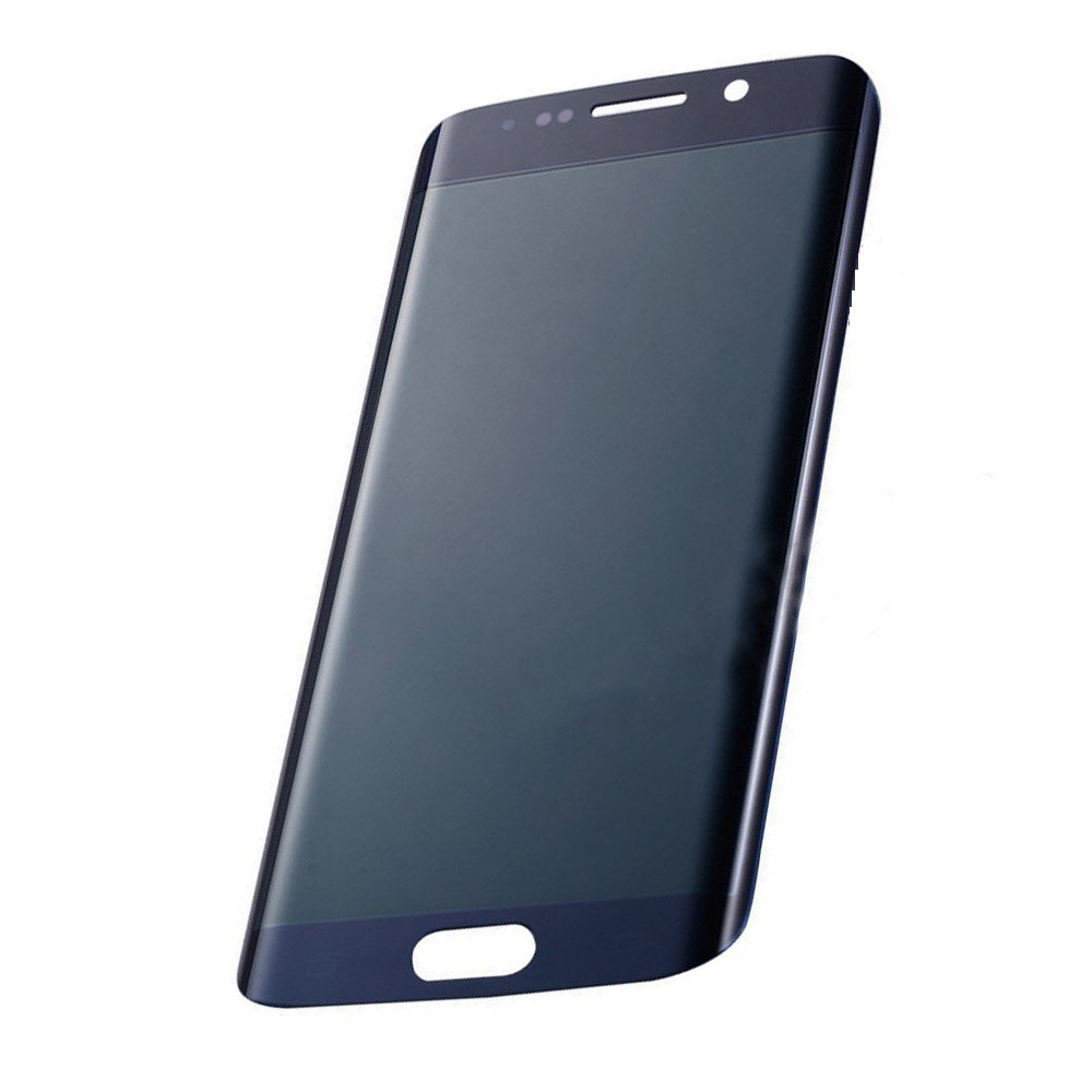 Стекло экрана Samsung G925F Galaxy S6 Edge синее