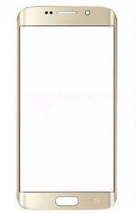 Стекло экрана Samsung G925F Galaxy S6 Edge золотое
