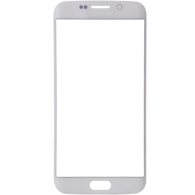 Стекло экрана Samsung G925F Galaxy S6 Edge белое