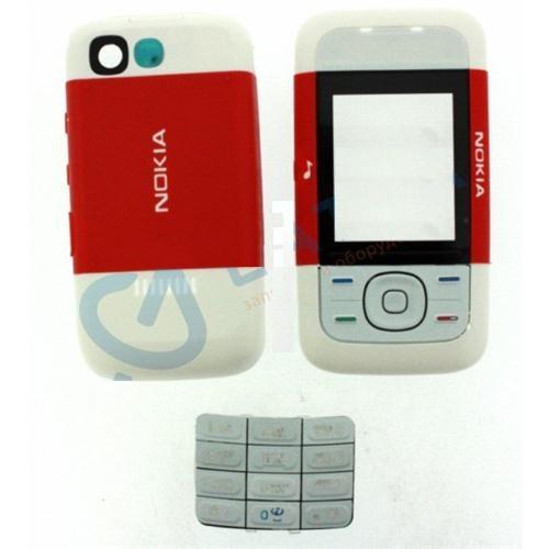 Корпус ААА Nokia 5200 (красный)+русская клавиатура