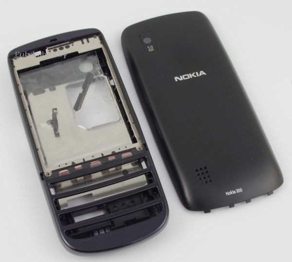 Корпус ААА Nokia 303 Asha (чёрный)+русская клавиатура