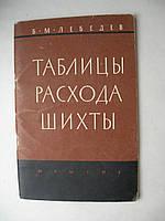 """Б.Лебедев """"Таблицы расхода шихты"""". 1960 год"""
