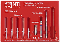 Стекловолоконные штифты  NTI FiberMaster конические, с головкой размер 2 (FP7458.A)