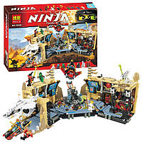 "10530 Конструктор Bela Ninja  (аналог LEGO Ninjago 70596) ""Самурай Х: Битва в пещерах"" 1303 детали"
