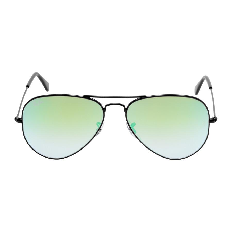 Солнцезащитные очки Ray-Ban Aviator Green Gradient Flash RB3025 002/4J