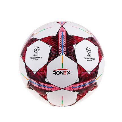 Мяч футбол Ronex(Finale)Pink/Red RX-F-DXN-PRB, фото 2
