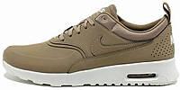 Женские кроссовки Nike Air Max Thea Premium (найк аир макс) бежевые