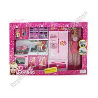 """Кухня для кукол """"Barbie""""(Большая), с куклой, музыкальная, со светом (ОПТОМ) X221C13"""