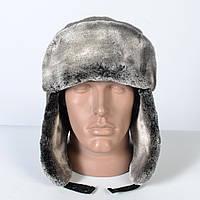 Тепла чоловіча шапка - вушанка на штучному хутрі - мутон 5d9847fe1a4db
