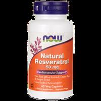 Ресвератрол натуральный, антиоксидант, Now Foods, 60 капсул