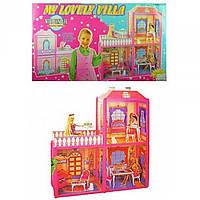 Домик для куклы 63х51,5х70см., фигурка, 2 этажа в кор. 60х34х7,5см. 6984