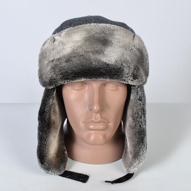Чоловіча шапка-вушанка ― прекрасний варіант на зимовий період. Матеріал    хутро - мутон 23ac226fbd9d2