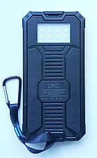 Внешний аккумулятор UKC 32800mAh с солнечной панелью и светильником, POWER BANK Solar, фото 2
