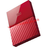"Внешний жесткий диск WD 2.5"" USB3.0 1Tb My Passport Red (WDBYNN0010BRD-WESN)"