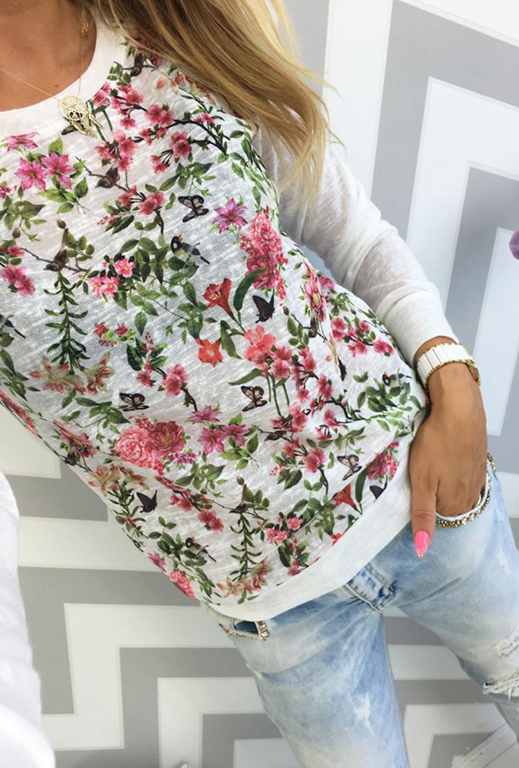 Женская кофта с цветами AL6738