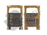 Разъем Sim-карты для Nokia 200 Asha/201/302, Sim 1