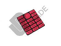 Клавиатура Nokia 206 Asha, красная, с русскими буквами