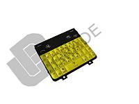 Клавиатура Nokia 210 Asha, желтая, с русскими буквами