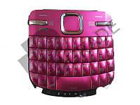 Клавиатура Nokia C3-00, розовая, с русскими буквами