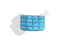 Клавиатура Nokia X3-02, аква, с русскими буквами
