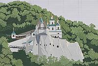 Схема для вышивки бисером Святогорская лавра (полная зашивка) КМР 2002
