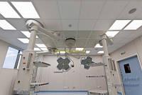Медицинский подвесной потолок Армстронг, плита Bioguard 600х600х12мм.  Плита Bioguard 600х600х15мм.