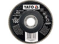 YATO Круг з наждачних пелюстків плоский;ALUMINIUM OXIDE К 40, Ø= 125/22,4 мм [25/100]