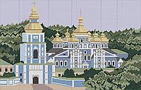 Схема для вышивки бисером Киево-Печерская Лавра КМР 2003