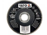 YATO Круг з наждачних пелюстків плоский;ALUMINIUM OXIDE К 36, Ø= 125/22,4 мм [25/100]