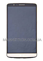 Дисплей с тачскрином и передним корпусом для телефона LG D855 G3 ACQ87190303 (code: 13291)