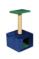 Когтеточка Домик 1 со столбиком и домиком  для кошек 67 см