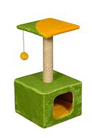 Когтеточка домик Котэдж с игрушкой для кошек 67 см