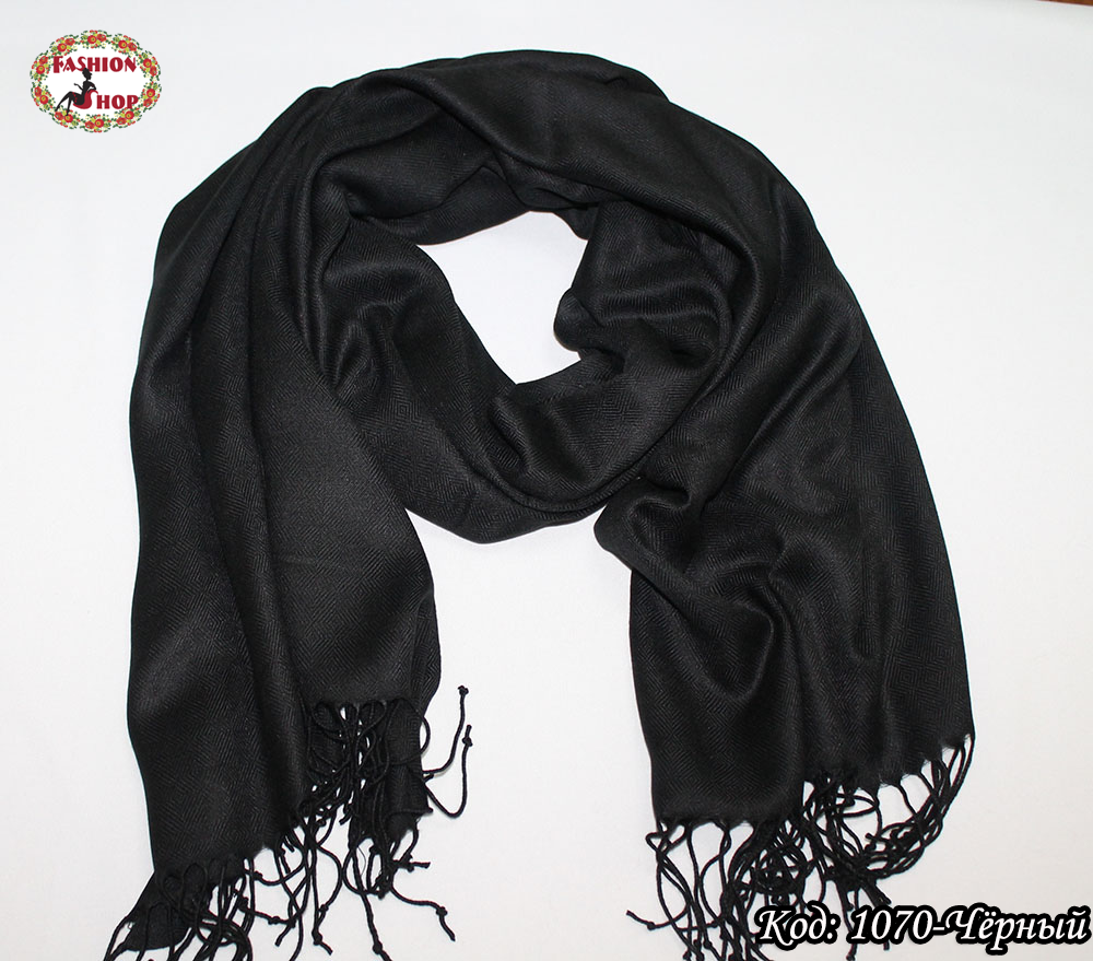 Мужской чёрный шарф