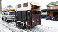Прицеп для перевозки коней 3,2м х 1,6м. Два тормозных торсиона!