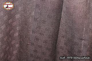 Жаккардовый шоколадный шарф , фото 2