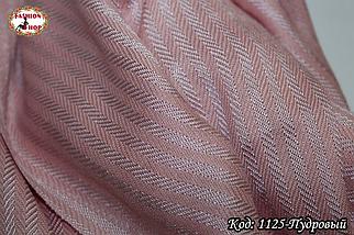 Женский пудровый шарф Классический, фото 3