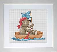 B1039 Медвежонок Бруно. Luca-S. Набор для вышивания нитками