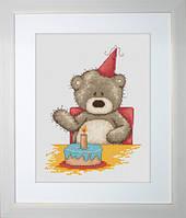 B1040 Медвежонок Бруно. Luca-S. Набор для вышивания нитками