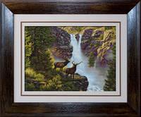 B470 У водопада. Luca-S. Набор для вышивания нитками