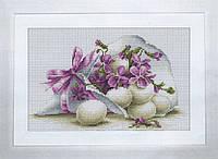 B106 Пасхальная открытка. Luca-S. Набор для вышивания нитками