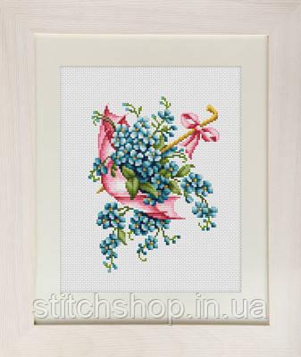 B111 Розовый зонтик. Luca-S. Набор для вышивания нитками