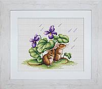 B1041 Мышки. Luca-S. Набор для вышивания нитками