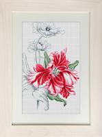 B2241 Красные тюльпаны. Luca-S. Набор для вышивания нитками