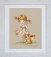 B1074 Прогулка. Luca-S. Набор для вышивания нитками