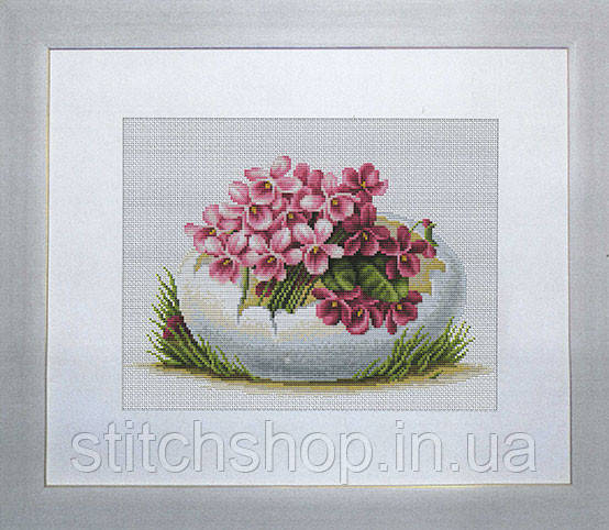 B105 Пасхальная открытка. Luca-S. Набор для вышивания нитками