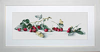 B2253 Малина с бабочкой. Luca-S. Набор для вышивания нитками