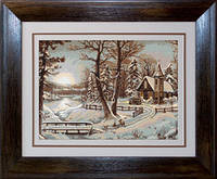 B321 Зимний пейзаж. Luca-S. Набор для вышивания нитками